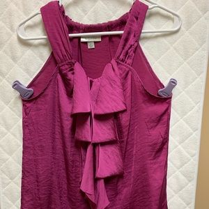 Silky pink sleeveless top